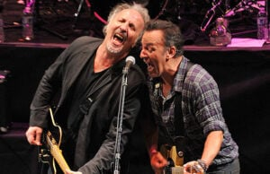 Joe Grushecky (left) and Bruce Springsteen