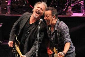 Joe Grushecky (left) and Bruce Springsteen