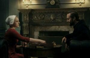 Handmaid's Tale Joseph Fiennes and Elisabeth Moss