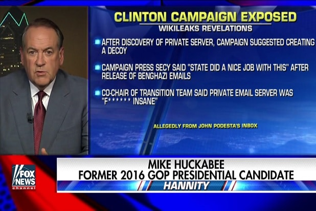 mike huckabee trump wikileaks flip julian assange