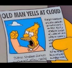 simpsons memes old man yells at cloud 30th anniversary