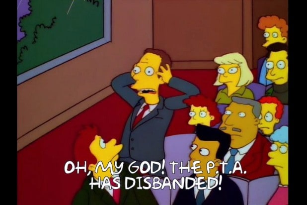 simpsons memes pta disbanded