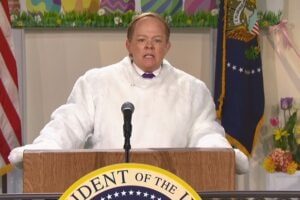 snl saturday night live melissa mccarthy sean spicer easter bunny passover holocaust centers concentration clubs