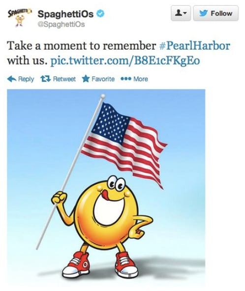spaghettios pearl harbor woke advertising
