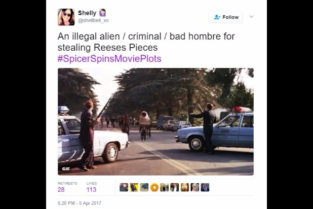 spicer spins movie plots ET illegal alien bad hombre