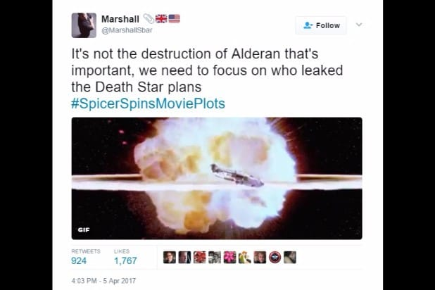 spicer spins movie plots alderaan death star star wars