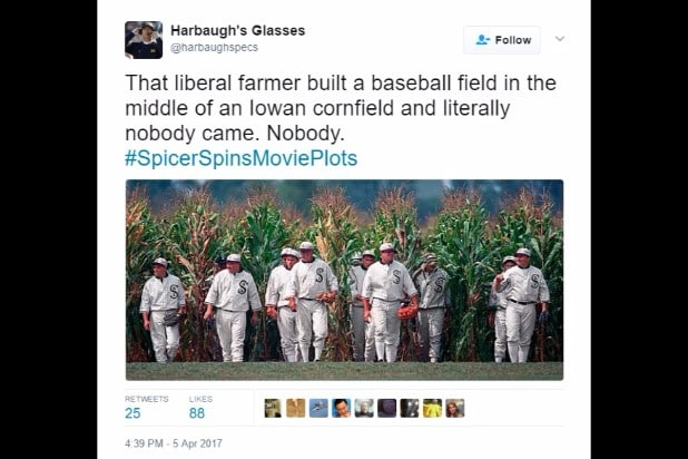spicer spins movie plots field of dreams nobody came