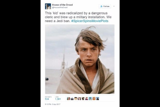 spicer spins movie plots star wars luke obi-wan radicalized ban jedi