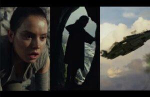 star war the last jedi teaser photos luke skywalker rey millennium falcon split