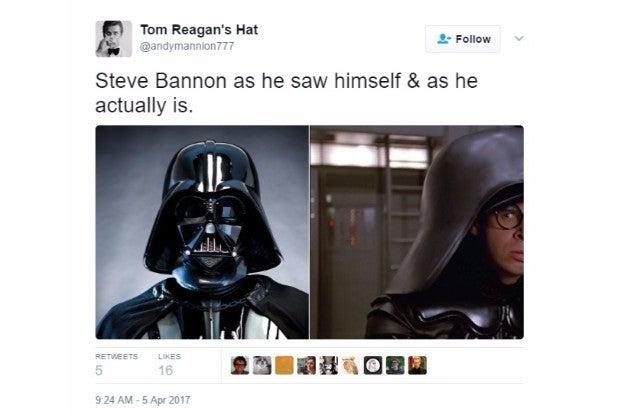 steve bannon nsc reaction darth vader dark helmet
