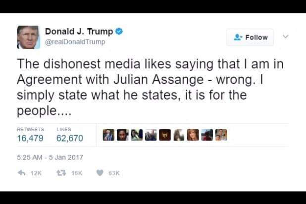 donald trump wikileaks i simply state what he states julian assange twitter