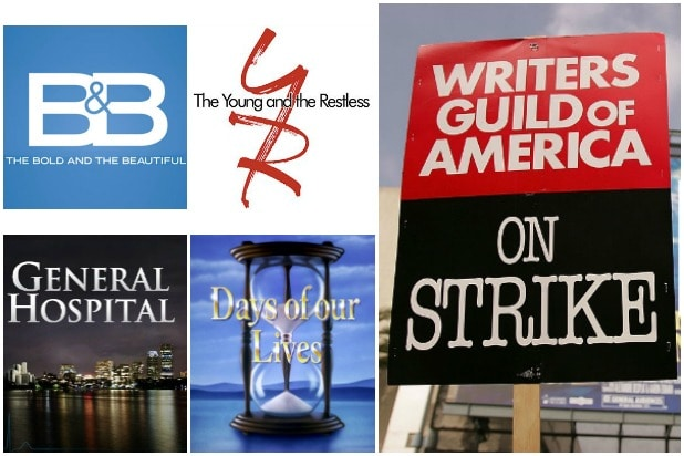WGA strike Writers Guild of America soap opera