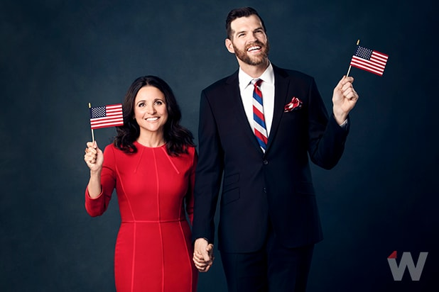Veep Julia Louis-Dreyfus and Timothy Simons