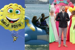 The 13 Tackiest Cannes PR Stunts, From Blake Lively's Sharks to Sacha Baron Cohen's Mankini (Photos)