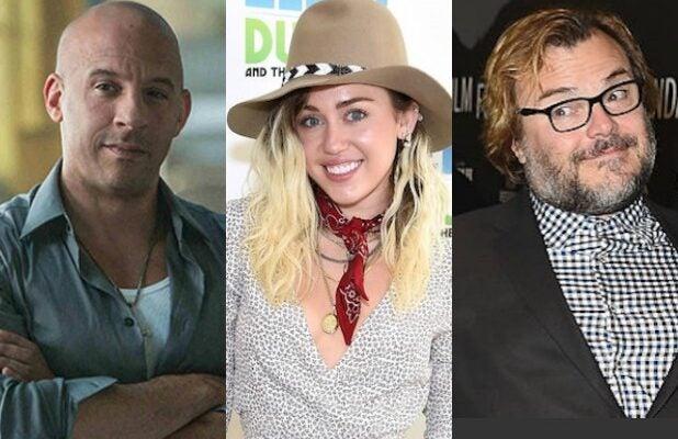 Vin Diesel Miley Cyrus Jack Black