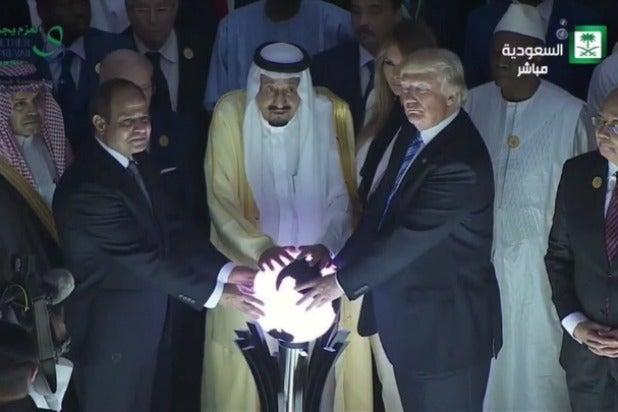 Donald Trump Saudi Arabia Orb