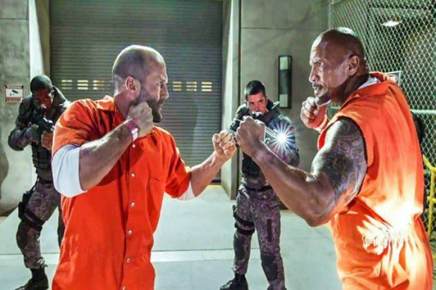 Jason Statham Dwayne Johnson Fate of the Furious Hobbs