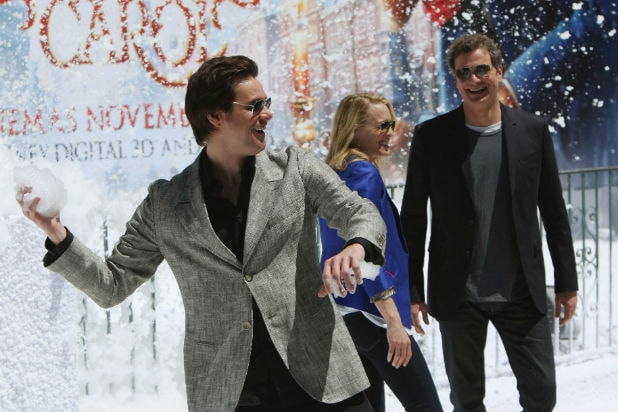 Jim Carrey Christmas Carol Cannes