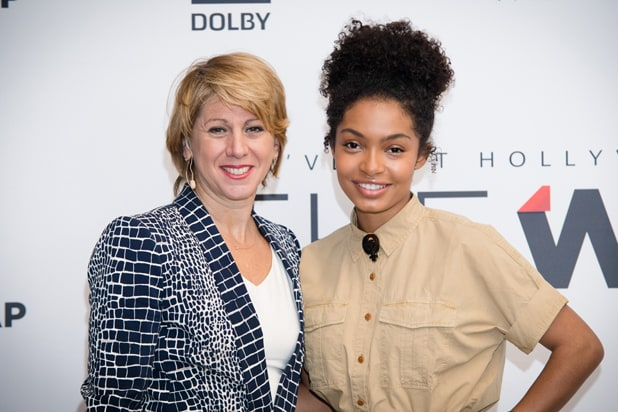 Sharon Waxman and Yara Shahidi at Power Women Breakfast San Francisco 2017