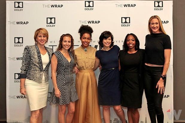 Sharon Waxman, Lisa Sugar, Yara Shahidi, Kathleen Grace, Kendra Bracken-Ferguson, Kerri Walsh Jennings Power Women Breakfast San Francisco 2017