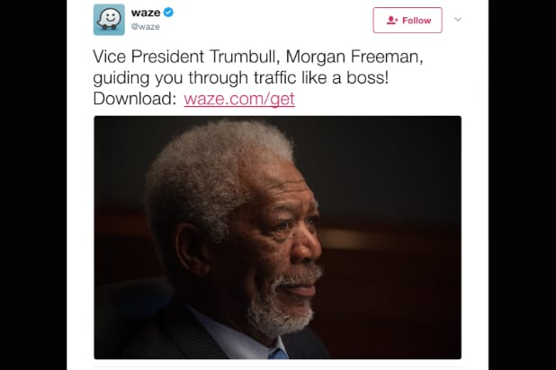 morgan freeman waze