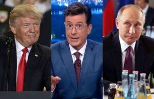 Donald Trump Stephen Colbert Vladimir Putin