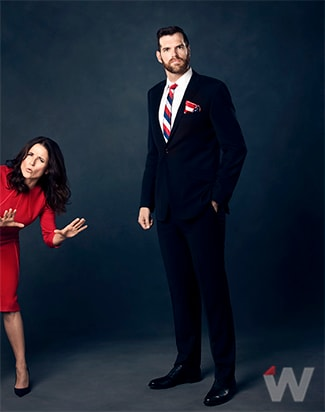 JULIA LOUIS-DREYFUS and TIMOTHY SIMONS VEEP THE WRAP of Veep