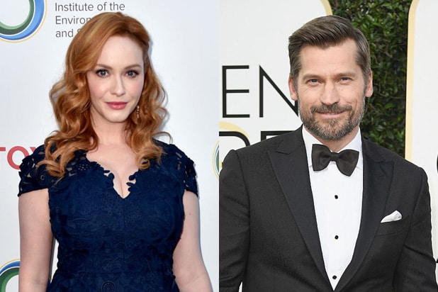 Nicolaj Coster-Waldau and Christina Hendricks