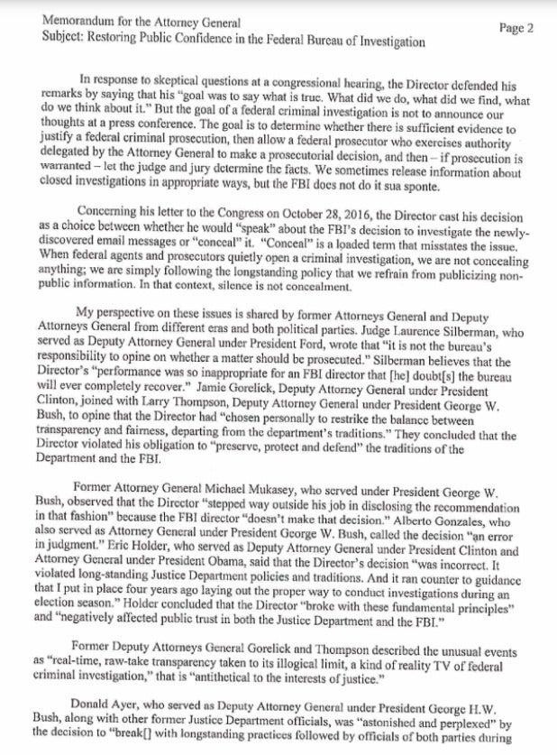 fbi comey deputy AG letter page 2