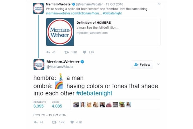 merriam-webster dictionary twitter trump corrections hombre