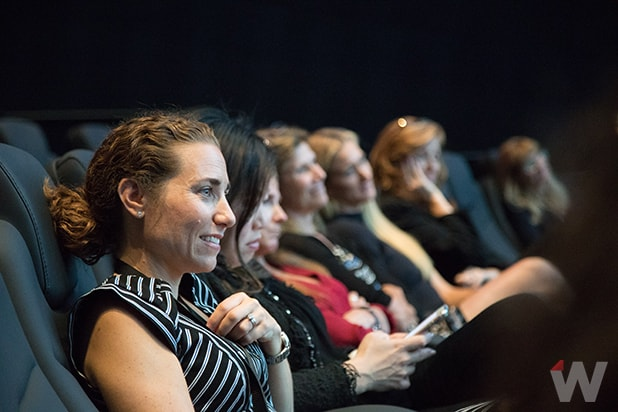 Lisa Sugar in auditorium Power Women Breakfast San Francisco 2017