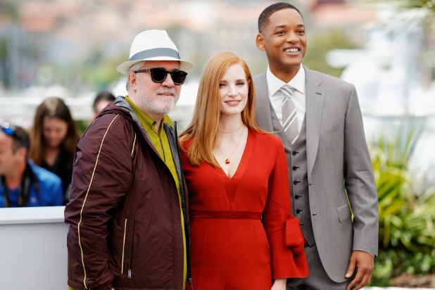 pedro almodovar jessica chasitain will smith cannes
