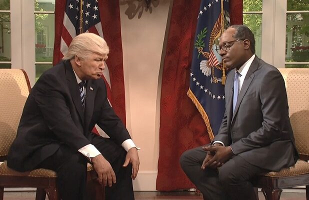snl saturday night live donald trump alec baldwin michael che lester holt toilet