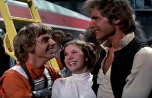 star wars a new hope luke skywalker princess leia organa han solo force awakens