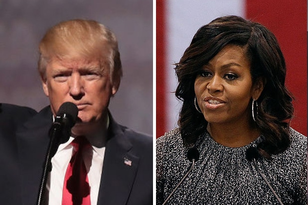 donald trump michelle obama