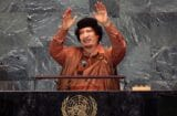 trump muammar gaddafi UN praise dictator
