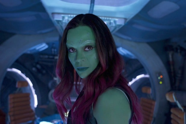 zoe saldana gamora guardians of the galaxy vol 2