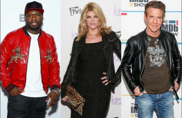 50 Cent Kristie Alley Dennis Quaid Trump