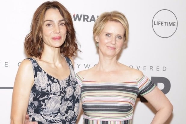Cynthia Nixon attends the Power Women Breakfast
