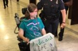 girl wheelchair protest dc