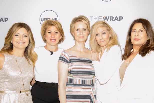 Lisa Bloom Sharon Waxman Cynthia Nixon Paula Wagner Power Women Breakfast New York 2017