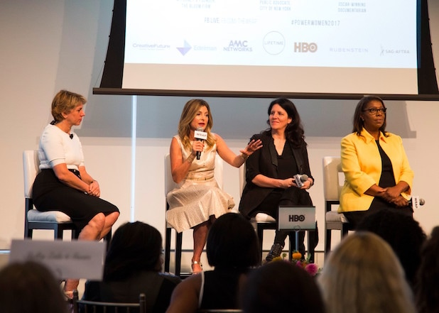 Lisa Bloom, Laura Poitras and Letitia James at Power Women NYC Breakfast