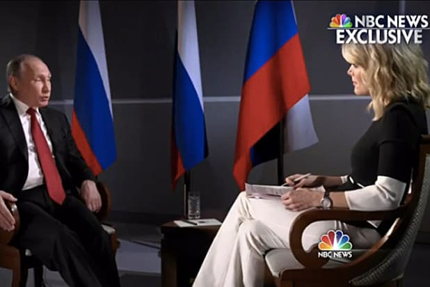 Megyn Kelly and Vladimir Putin
