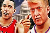 Obama Trump basketball