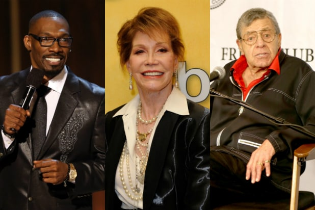 jerry lewis, mary tyler moore, charlie murphy
