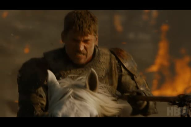 game of thrones trailer jaime lannister flaming field
