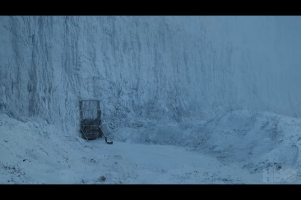 game of thrones trailer the wall sled