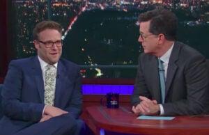 Seth Rogen and Stephen Colbert