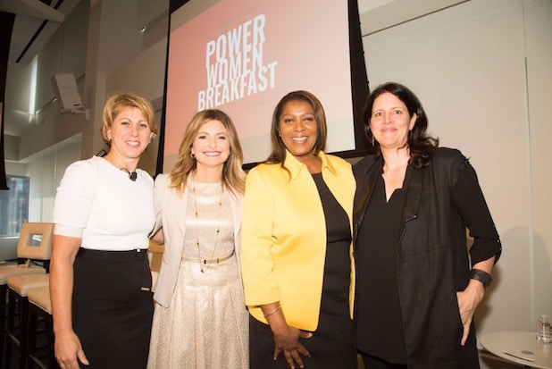 Sharon Waxman Lisa Bloom Letitia James and Laura Poitras Power Womeb Breakfast New York 2017