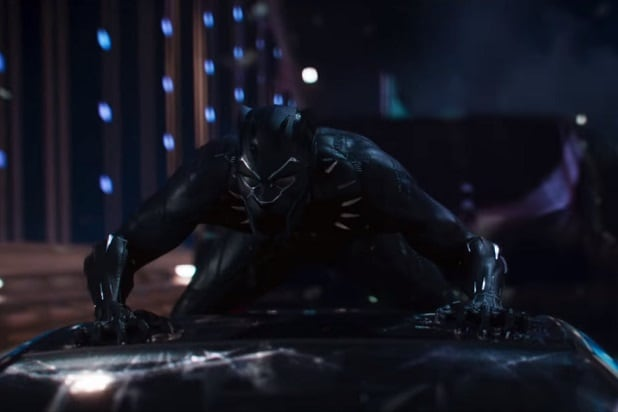 black panther trailer black panther wrecks a car